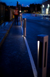 solispost solar powered illuminated bollards installed at Mars Petcare