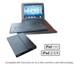 Leather Keyboard Portfolio for iPad Air and iPad Air 2 Ready for...