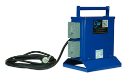 Low Voltage Transformer that Features Four L5-20 Twist Lock Receptacles