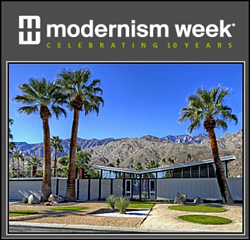2015 Modernism Week tourists and festivities in Palm Springs California