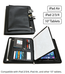 Business Leather Portfolio for Tablets, Great Grad Gift!