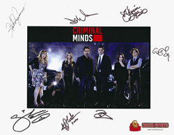 Auction Winner will receive this Criminal Minds Print autographed by each one of the 2015 Criminal Minds Cast Members as well as DVD's of seasons 1 through 9.
