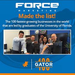 Force Marketing's University of Florida grads Gator100