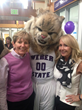 Jane Marquardt with Weber State Mascott