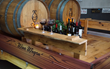 Created from 100 year old repurposed wood, the Wine Wagon has custom storage areas.