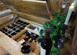 The Wine Wagon's display area is a perfect place to showcase your products or favorite wine selection.