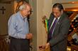 Cesar Foglio with Woodbury President Luis Ma. R. Calingo, Ph.D.