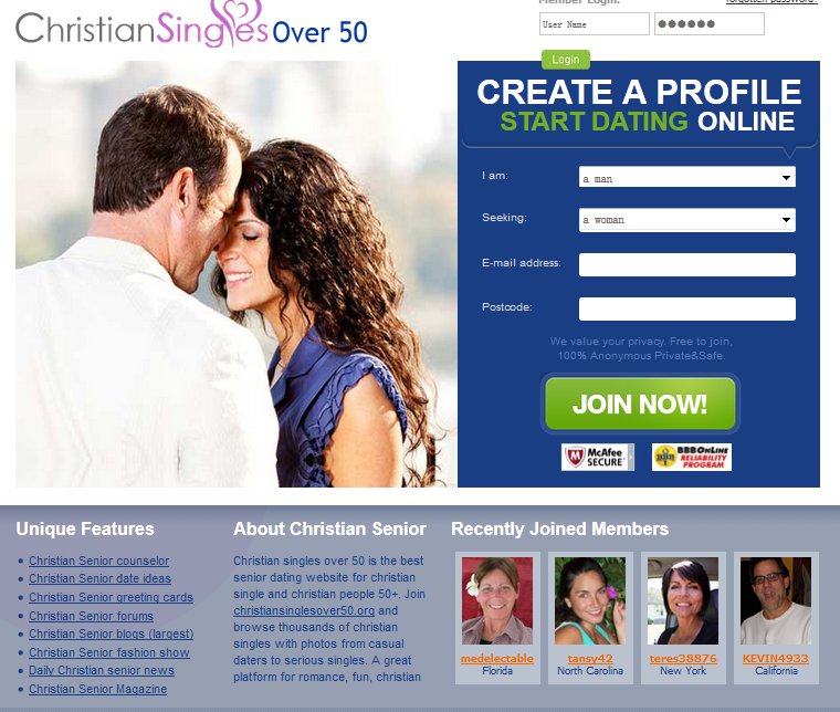 Casual dating sites over 50