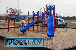 Sandhills Elementary chose the Walnut Ridge Play Structure for their school playground