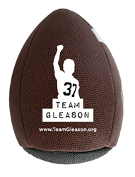 The Team Gleason Passback Football is available in both adult (official) and junior sizes.