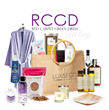 "The Lux & Eco Gift Bag filled with ""the finest in conscious living"" for Red Carpet Green Dress"
