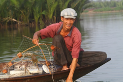 A Fisherman in Hoi An, Vietnam
