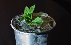 A photo of a mint julep