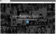 Screenshot of the new website created by Save Family Photos.