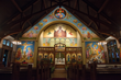 Icons by Tom Clark, Holy Spirit Greek Orthodox Church Rochester, lit by SoLux
