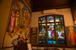 Stained glass lit by daylight Holy Spirit Greek Orthodox Church, Rochester, NY