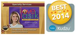 Atlanta Vision Institute Consumers' Choice Award Business Excellence Kudzu Winner