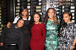 "Monica ""Dollphace"" Floyd with Angela Simmons, Karen Civil, Tahiry Jose and cast member Snoop"