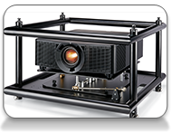 Christie H Series with stacking frame