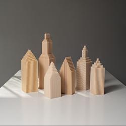 Cityscape of Paper Straws