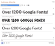 Suitcase Attaché - Google Fonts List