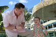 Derrick Levasseur enjoys the sun and the pool with his daughter at Generations Riviera Maya