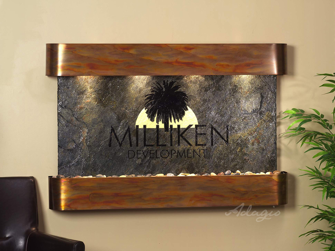 Superbe Personalize Your Water Feature With A Logo/Engraving