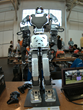 A giant humaniod robot prepares for its events