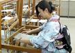 Creative Designer Akiko, Nishijin weaving at Kyoto