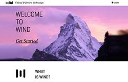 Wind homepage screenshot