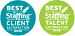 IDR Wins Inavero's 2015 Best Of Staffing® Client and Talent...