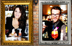 Cheryl Charming and Steven Lemley, Jr. with Bourbon O bar