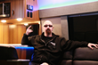 Rob Halford chilling in a van