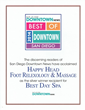 Awarded best day spa in San Diego