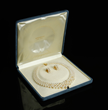 Mikimoto 18K Akoya Pearl Necklace and Earrings