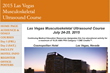 Announcing the 2015 Las Vegas Musculoskeletal Ultrasound Training...