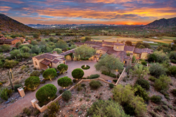 Luxury custom estate home the exclusive Silverleaf community, a gated neighborhood in DC Ranch, Scottsdale AZ