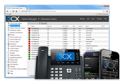 3CX Phone System with Desktop and Mobile Phones