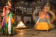 Bhutan Buddhist dancers