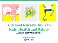 Cover page for visual guide to kids health and wellness