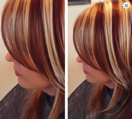 Tri Color Highlights On Shoulder Length Hair Stylist Wendy Brown