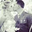 The Right Hair Bridal Package-Bride Ashley Danielle Tafoya & husband Corporal James Tafoya– photography by Mike Gilmore
