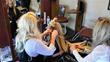 The Right Hair Owner Brandee Pacillio applying hair extensions using DreamCatchers bead technique