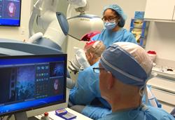 Dr. Bernstein Performing Robotic Hair Transplant at Bernstein Medical