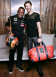 CEO Dominique Siby with Formula 1 champion Romain Grosjean