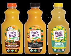Organic Orange Coconut, Orange Turmeric and Matcha Lemonade