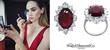 Suki Waterhouse stuns in Shaftel Diamond Co. ring, Burberry dress at Oscars