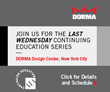 DORMA Americas To Offer Monthly AIA Accredited Presentations