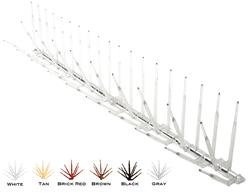 plastic bird spikes
