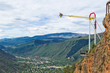 Giant Canyon Swing at Glenwood Caverns Adventure Park in Glenwood Springs, CO